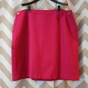 Talbots Magenta Skirt 22W